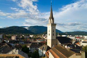 Blick auf Villach Stadt - Anwalt in Villach