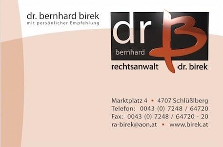 Dr. Bernhard Birek Logo Schlüßlberg