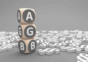Würfel stehen aufeinander mit AGB drauf