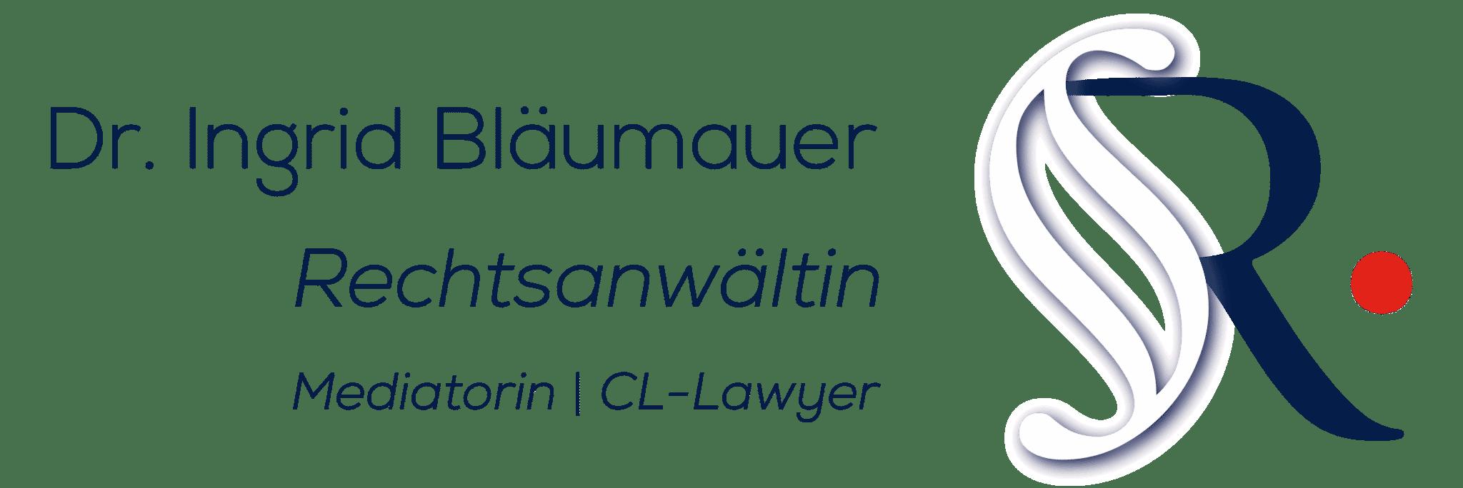 Dr. Ingrid Bläumauer 1030 Wien Logo Anwältin