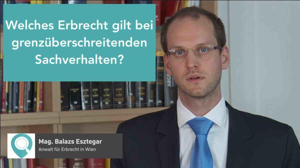 Videovorschau FAQ Video Welches Erbrecht gilt bei grenzüberschreitenden Sachverhalten?