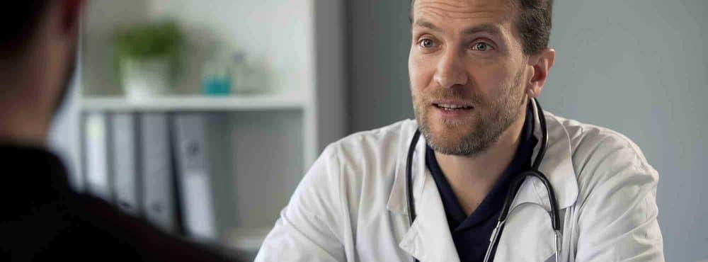 Arztgespräch mit Patient