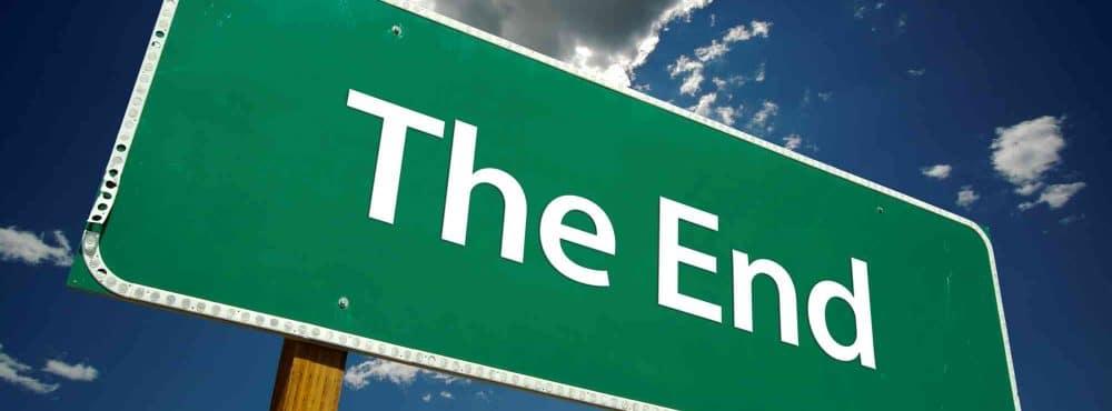 Straßenschild The End