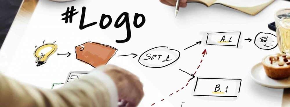 Markenkonzept Hände auf dem Konzept