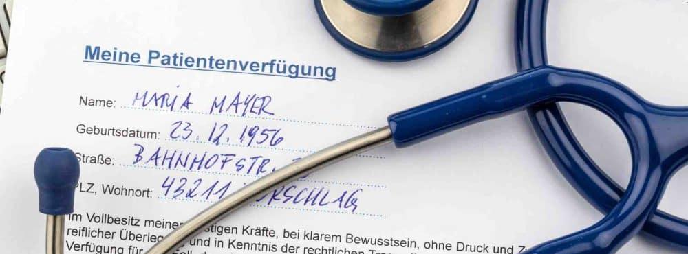 Patientenverfügung erstellen lassen