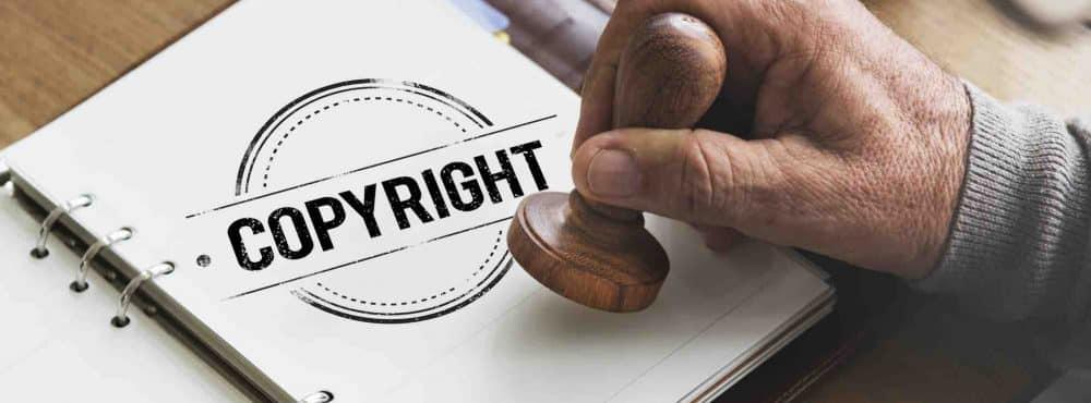 Copyright Stempel auf Papier